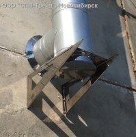 Консоль опорная для монтажной площадки дымохода 400x400. Толщина пластины 1,5 мм.