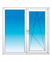Окно двухстворчатое KBE