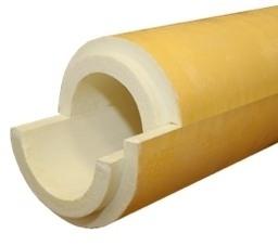 Скорлупа ППУ с покрытием из стеклоткани (стеклопластик)