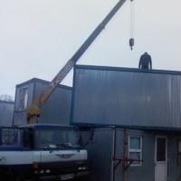 Доставка строительных бытовок