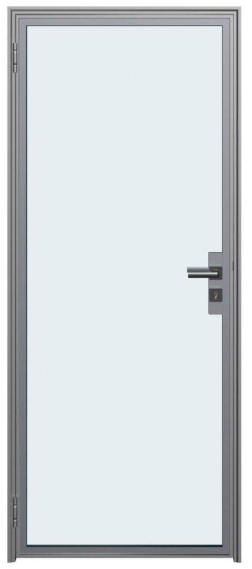 Дверное полотно на основе алюминиевого профиля. Серия Estet Glass1