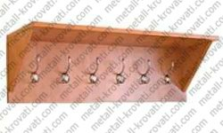 Вешалка настенная на 6 крючков с полкой для головных уборов 'В-2'