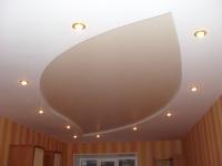 Матовый двухуровневый натяжной потолок арт.SR-578 серии MSD PREMIUM.