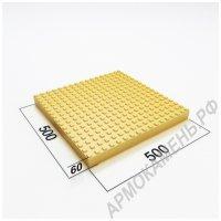 Тактильная плитка бетонная 500x500x60 мм