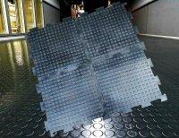 Модульное армированное промышленное напольное покрытие из резины РезиПлит – Double