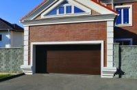Ворота 2,5*2,215 секционные серии RSD01SС №2доска, коричневые