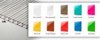 Сотовый поликарбонат 4 мм  (0,6 кг/м2) цветной