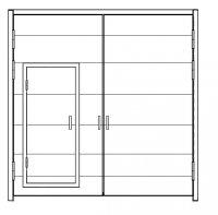 Ворота ВР стальные наружные 36х36-ухл1, серия 1.435.9-17