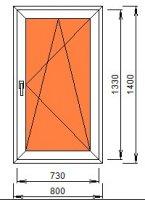 Окно 800*1400 (24 мм)
