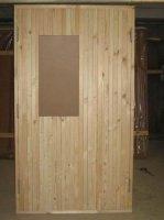 Дверной блок наружный с деревянной профилированной рейкой ГОСТ 24698-81