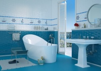 Керамогранит Golden Tile Ocean М43830 Голубой 40х40