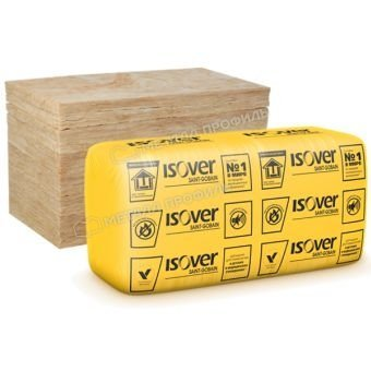 Теплоизоляционные плиты ISOVER Каркас П-34-100/Е 1170х610х100 мм (0.714 куб.м)