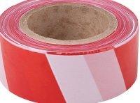 Лента сигнальная (красно-белая) 50 мм х 200 м КУРС артикул 11848