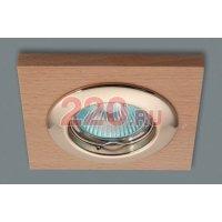 Накладка деревянная, бук Цвет:, бук мм: 10, внешний, мм: 105 х 105 внутренние, мм. D1/D2: 75 - DN-1-B200-LD