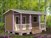 Щитовой домик с хозблоком 5х3,5 м «Дачный»