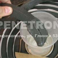 Пенебар-жгут для гидроизоляции рабочих швов