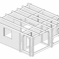 Баня 6х6 из оцилиндрованного бревна