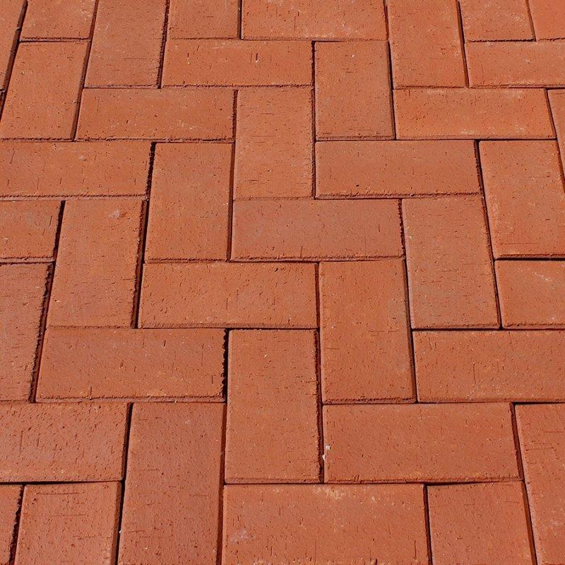 Тротуарный клинкерный кирпич ЛСР Лондон красный