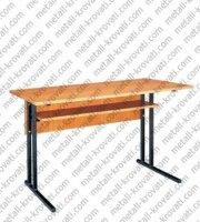 Стол аудиторный, на металлокаркасе, ЛДСП 16 мм, кромка ПВХ 0,4 мм 'СА-1'