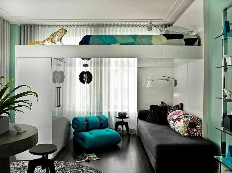 Вертикальное зонирование пространства комнаты