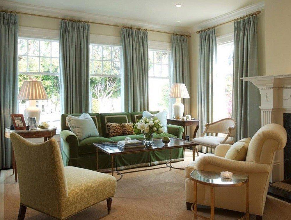 Сочетания зеленого цвета в интерьере гостиной фото 6