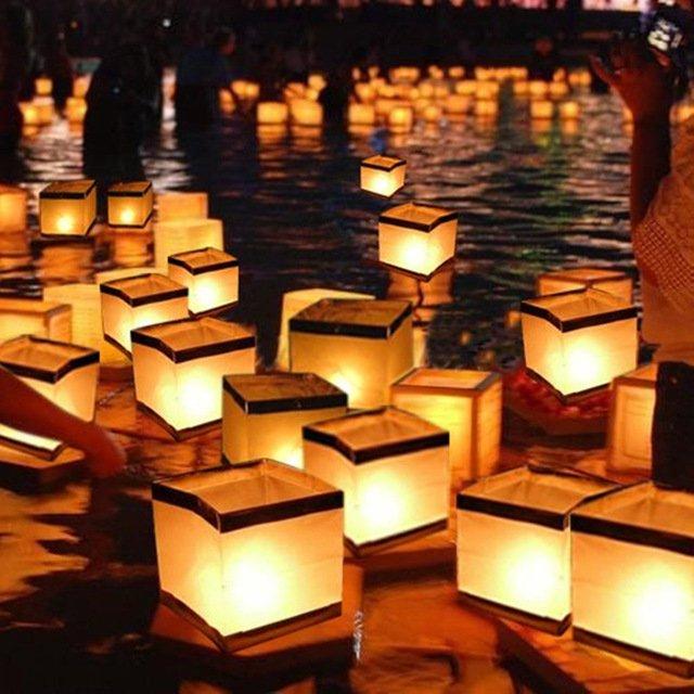 Плавающие бумажные подсвечникиHalojaju (10 шт.)