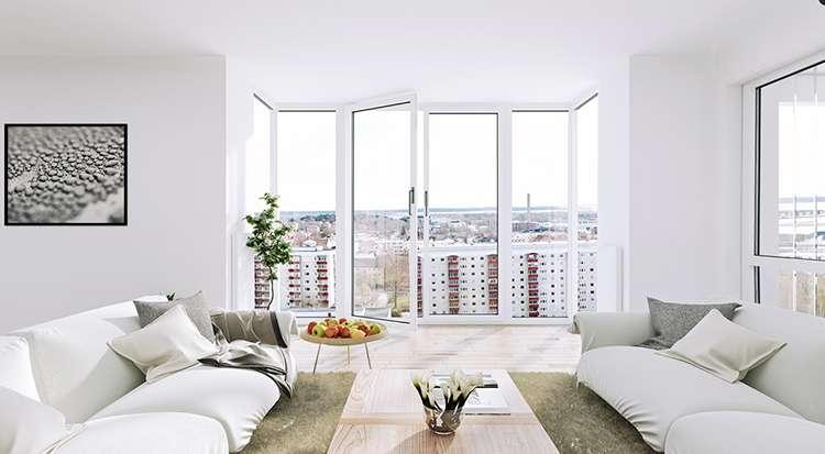 Белый цвет в интерьере квартиры фото 1