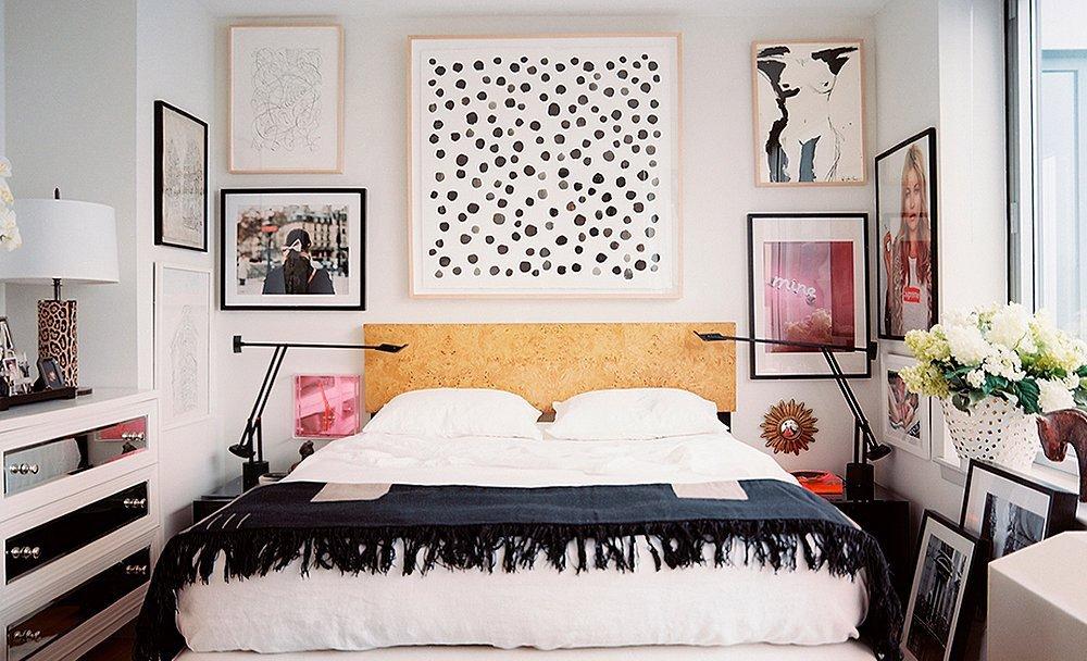 Оформление стен для спальни