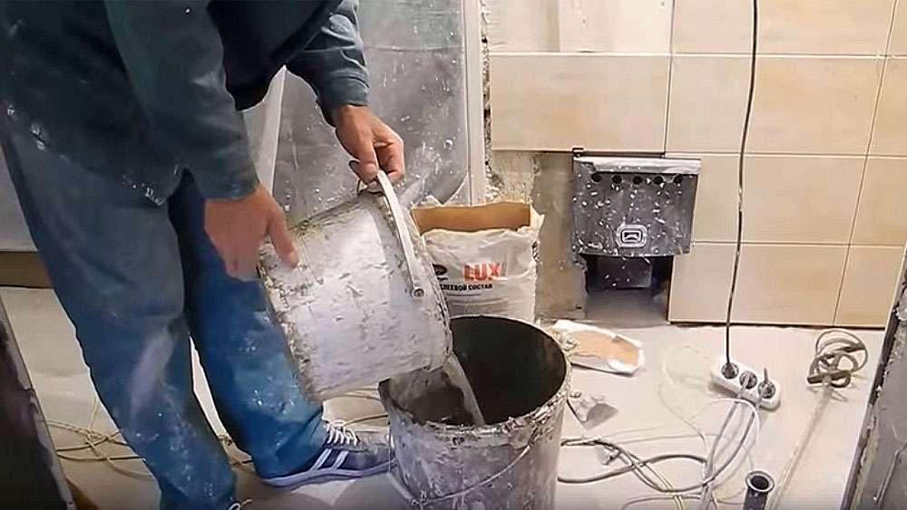 Как замесить плиточный клей