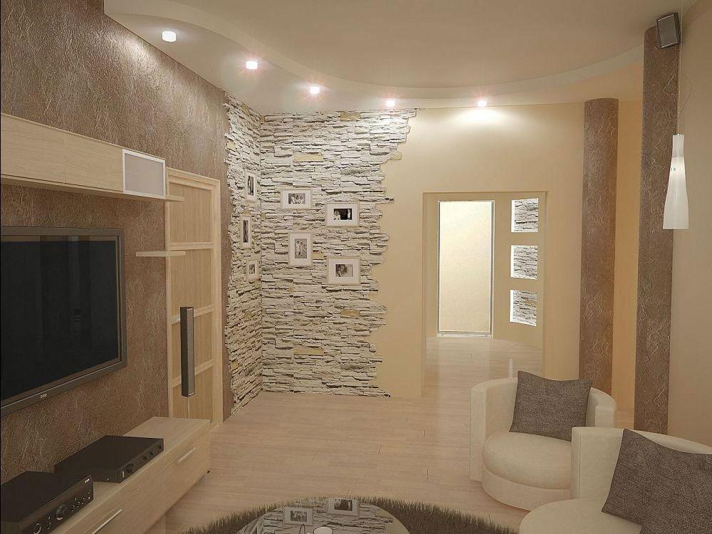 Комбинирование обоев в гостиной. 10 основных вариантов комбинирования