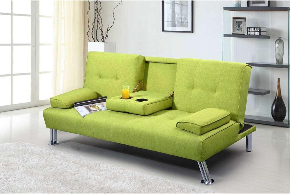 Зеленый диван в стиле модерн