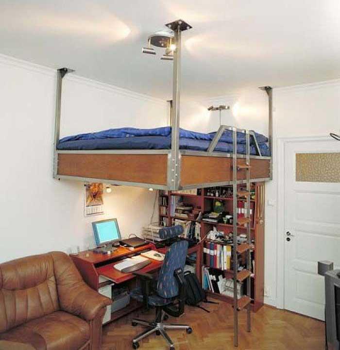 Зонирование пространства комнаты в высоту