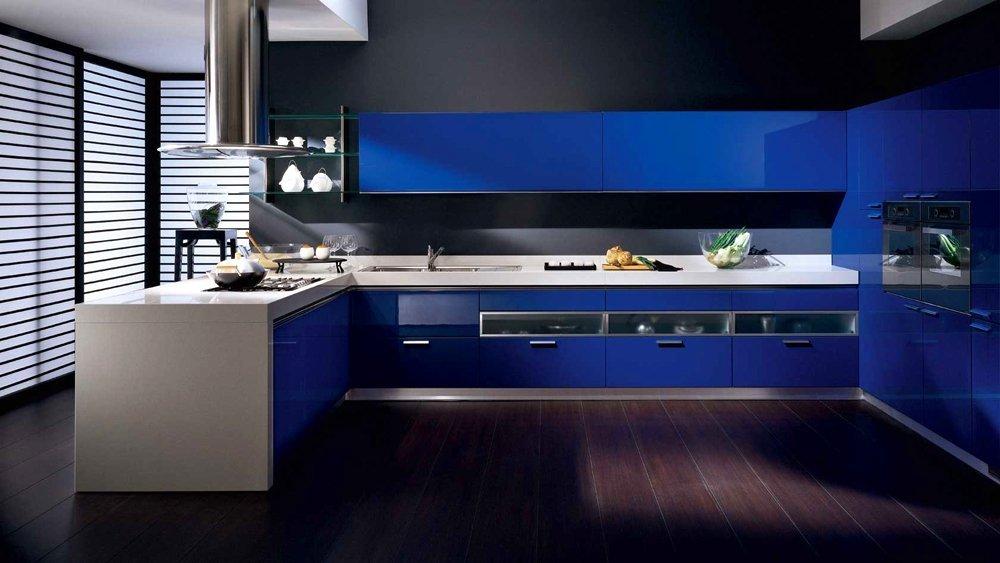 Синий цвет кухни