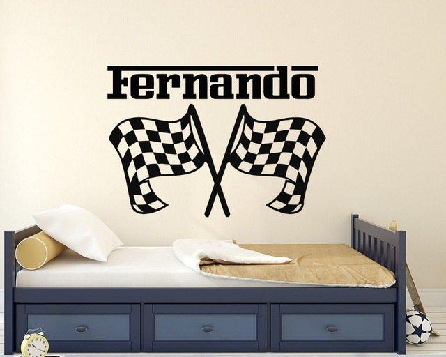 Настенный стикер для гоночныхфанатовYOYOYU ART HOME DECOR