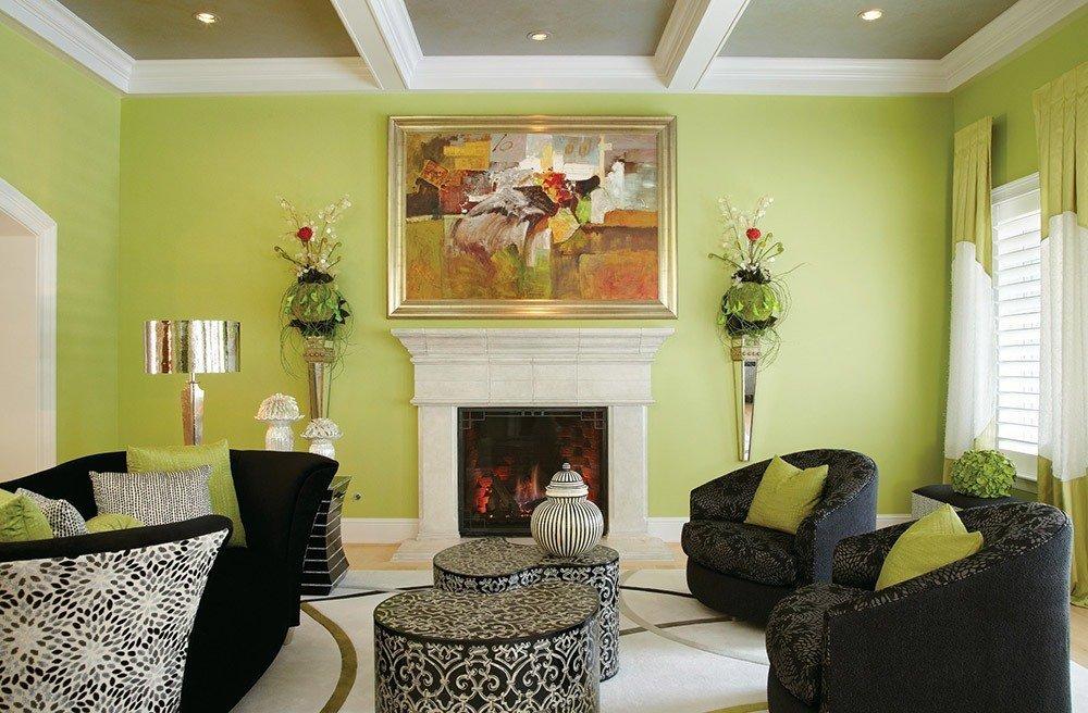 Сочетания зеленого цвета в интерьере фото 3