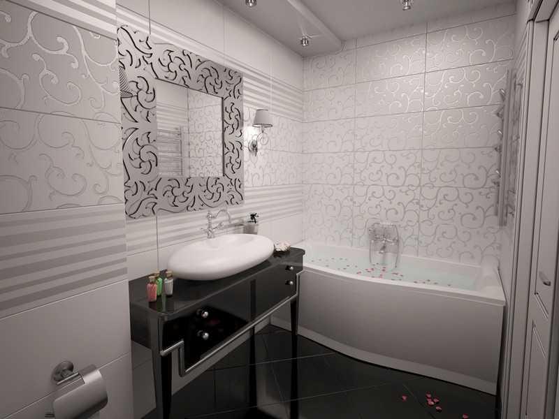 Интерьер ванной в стиле арт-деко