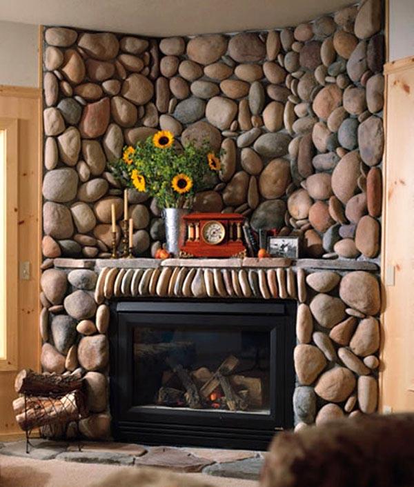 Использование натурального камня в интерьере: фото и идеи