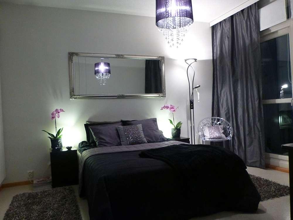 Оригинальная люстра и мебель для спальни в современном стиле