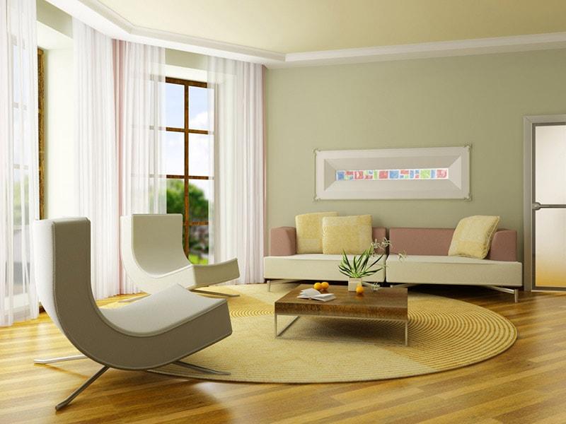 Ковер в интерьере современной гостиной – фото, идеи, правила