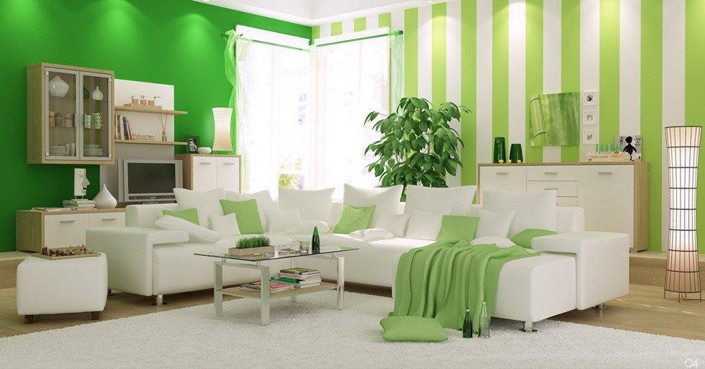 Сочетания зеленого цвета в интерьере фото 2