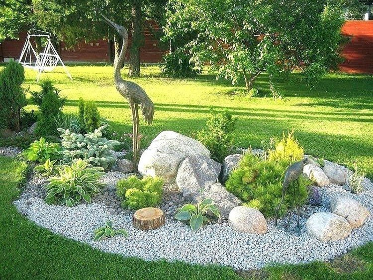 Сад камней на даче фото 3