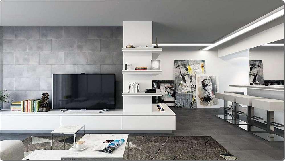 Серый цвет в интерьере в стиле хай-тек