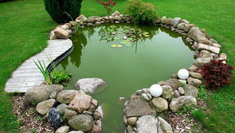 Декоративный пруд на даче фото 16