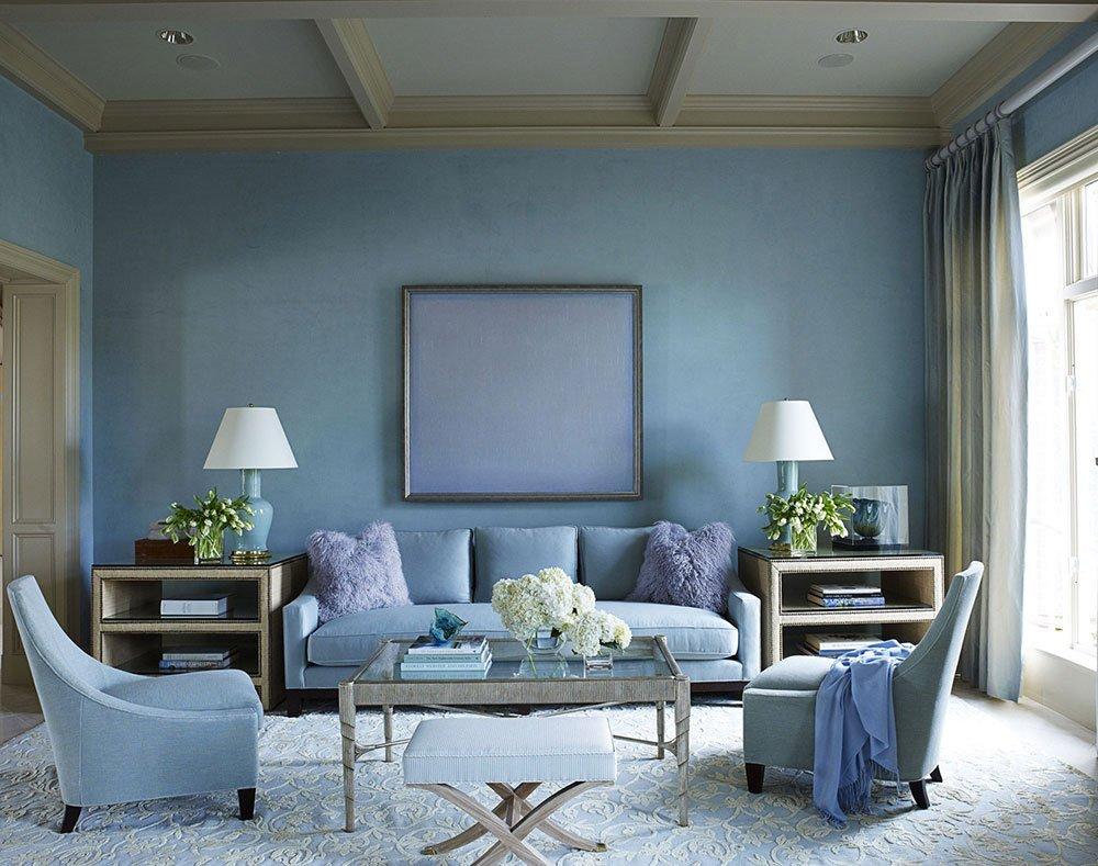 Голубой цвет в интерьере фото 3