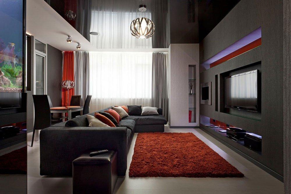 Современная гостиная фото 11