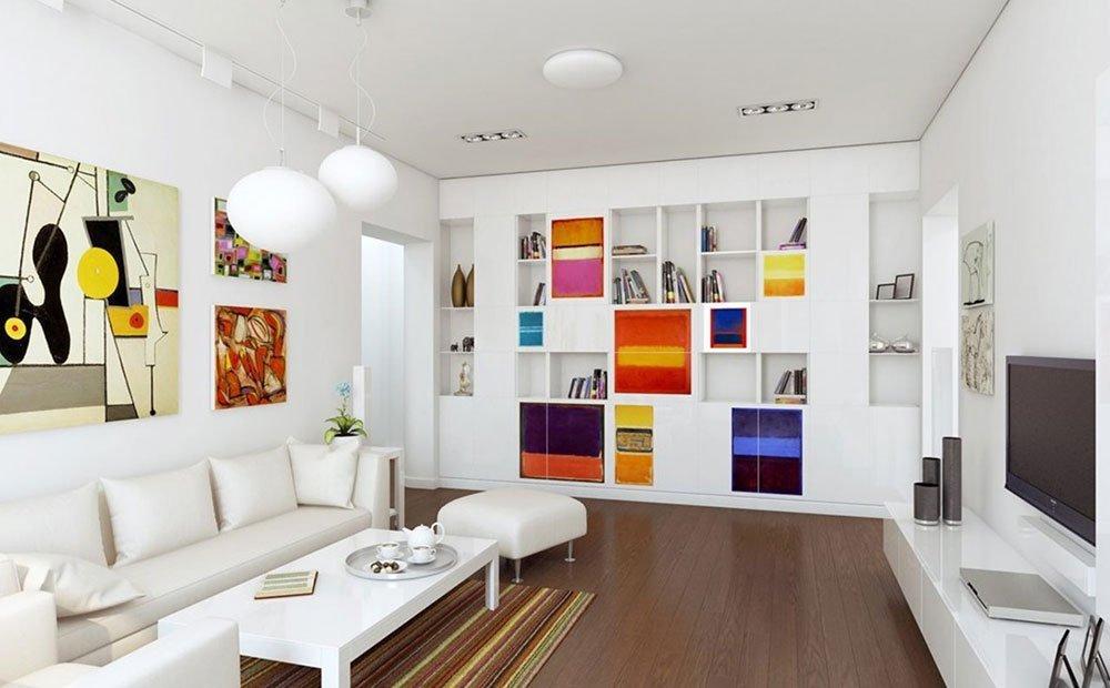 Эклектика в современной гостиной фото 1