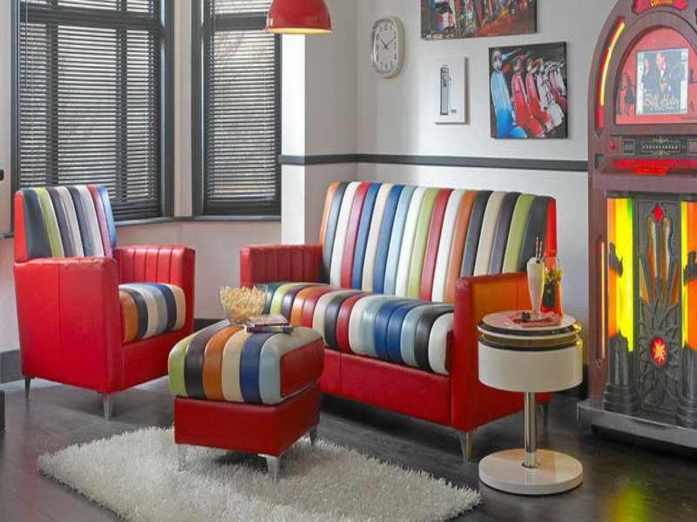 Необычный кожаный диван