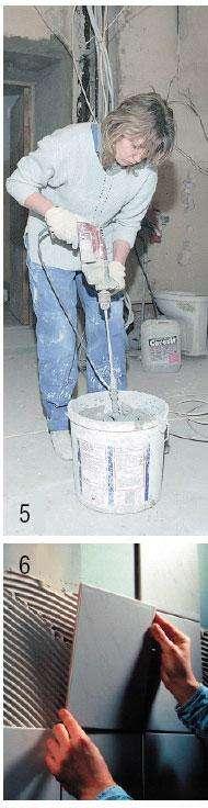 Использование сухих строительных смесей