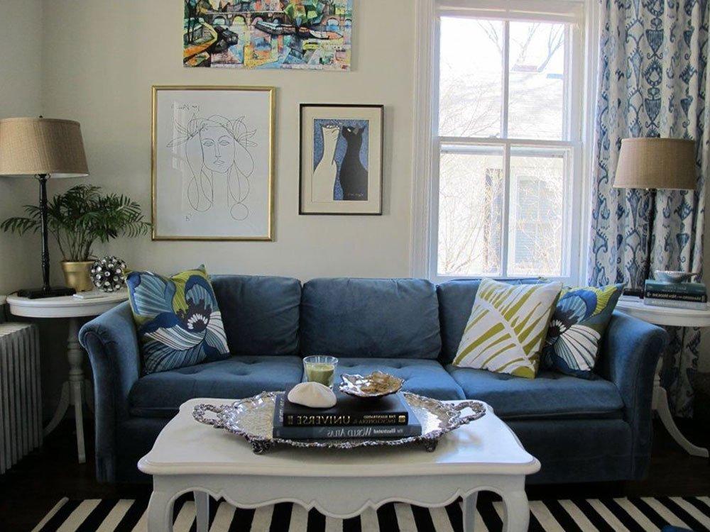 Сочетания голубого цвета в интерьере фото 17