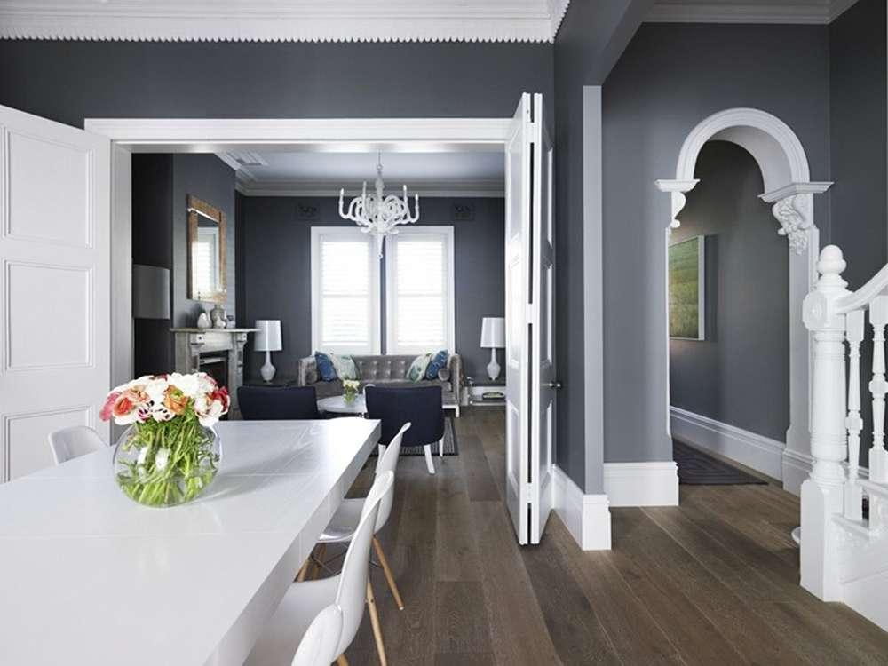 Использование серого цвета в классическом интерьере